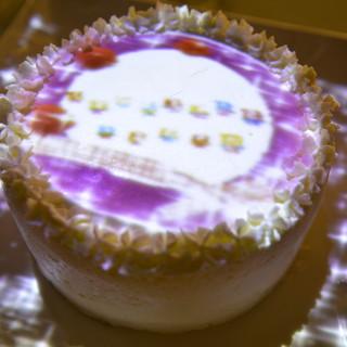 こんなサプライズ初めて!ケーキにマッピング☆彡
