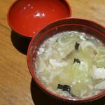 旬海佳肴 一家 - メヒカリのアラ汁