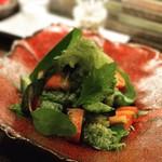 Dining TABI - 鱧と水ナスの冷製バジル和え