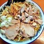ケンチャンラーメン - 普通盛り 味ふつう 油ぬき 細切りチャーシュー850円