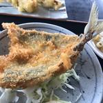 国八食堂 - 大きな鯵フライ