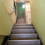 帯広亭 - 階段を上がって