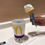 マクドナルド - 2017/07 ソフトツイスト 100円と水分補給用に、スマホのマクドナルドの公式アプリ McDonald's Japanのクーポンで、プレミアムロースト コーヒーの アイス(M)150円→100円