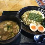 嘉藤 - 魚介つけそば・麺少なめ(トッピング味玉付き)