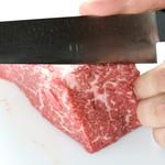 じゅうじゅう焼肉 カルビ大陸 - 料理写真:手切りだから旨味を逃しません。