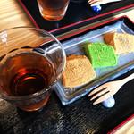 茶洛 - ニッキ、抹茶、生姜(しょうが)の3色セット。