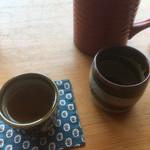 草允 わらび野 - 蕎麦湯とほうじ茶