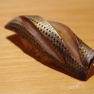 鮨 さかい - 料理写真:小鰭