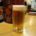 おいしいさあ - 「オリオン生ビール」です。