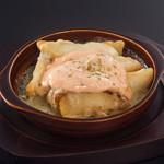 たっぷりチーズの明太ポテト焼き