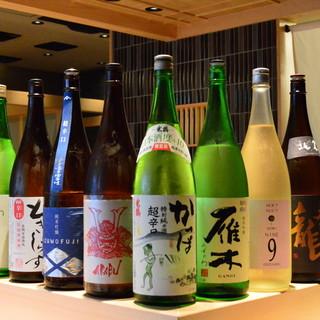 鮨にあう、種類豊富な日本酒