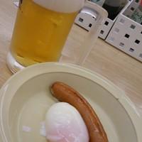 松屋-松屋 生ビール&ソーセージ半熟玉子