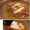 寿司つばさ - 料理写真:◆蒸し鮑、萩の赤雲丹、ジュンサイ。 鮑は柔らかく蒸され、旬の「赤雲丹」もいい味わい。