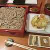 明月庵 ぎんざ田中屋 - 料理写真:「海老とアスパラのかき揚げ天せいろ」一式