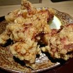 紀州麺処 誉 - 豚骨しょう油つけ麺+梅鶏竜田揚げセット♪