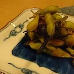 彌三郎 - 枝豆の燻製(*^^*)これ面白かった