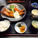 お食事処 潮騒 - 海老フライ定食(1,500円)
