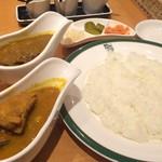 Manna - 一周年記念メニュー                             ★西洋料理通からの再現ビーフカレーと純インド式カリー食べ比べセット