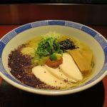 らーめん竹馬 - 鶏とかつお節の冷たいラーメン(850円)