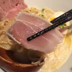 70541367 - 魚介白湯新味 カジキのたたきのゆず漬け