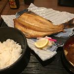 阿久根 魚鈎 - ♪特大ほっけ定食  ¥1050