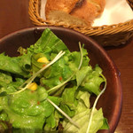 70543007 - バール定食ランチ(サラダ、パン)