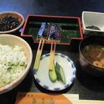 五平田・蔵 - 菜めし田楽定食700円