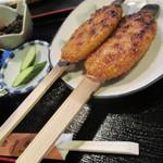五平田・蔵 - 五平田定食630円 ご飯がわりの五平餅2本はかなりのボリューム