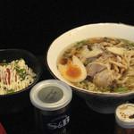70543957 - 龍のひげ 冷やし肉そば 780円 メンタイマヨ丼 180円