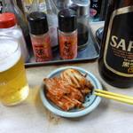 70547117 - 瓶ビール&キムチ