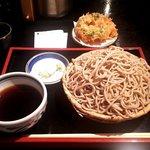 壱 - もり・大盛り+桜海老かき揚げ