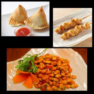 本格ネパール料理とお手軽に楽しんで◎飲み放題もつけられます!