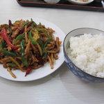 普天河 - 豚肉の細切り唐辛子炒め