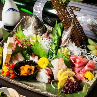 美食に合わせ日本全国より厳選して焼酎・日本酒等の地酒を用意!