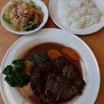 レストラン シラツユ - Bランチ(ビーフステーキ)1200円