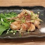 蕎麦cafe 粉々奈 - 鶏とろ焼き