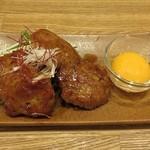 蕎麦cafe 粉々奈 - 鴨の鶏つくね
