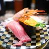 廻る寿司めっけもん - 料理写真:極上3貫(本鮪中トロ・天然赤海老・うにいくら軍艦)