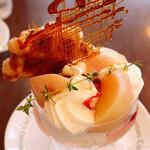 イノダコーヒ - Coupe de Peches  桃のクープ