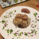 博多ほたる - さつま香蘭鶏炭火焼梅おろし添え。