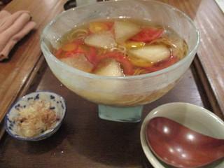 東白庵かりべ - トマトと冬瓜の冷やかけ