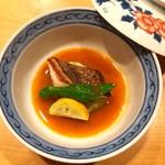 オステリア あんじゅ 西麻布 - アイナメのソテー