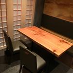 オステリア あんじゅ 西麻布 - テーブル席