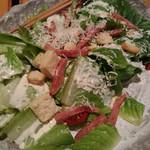 魚菜 日本橋亭 - 厚切りハムと丸ごとシーザーサラダ