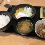 吉野家 - ハムエッグ牛小鉢定食