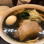 ラーメン屋 切田製麺 - 黒正油 味玉(650+100円)