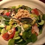 個室居酒屋 番屋 - 蒸し鶏と夏野菜のサラダ