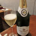 Restaurant Cinq - ドリンク写真:シャンパーニュ「フレデリック・マルトレ(1500円)」