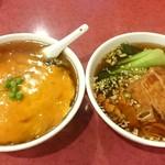 東林 - 左 天津麺 右 パイコー麺