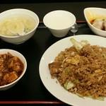 リトル成都 - 【ランチ】豚角煮黒炒飯:900円